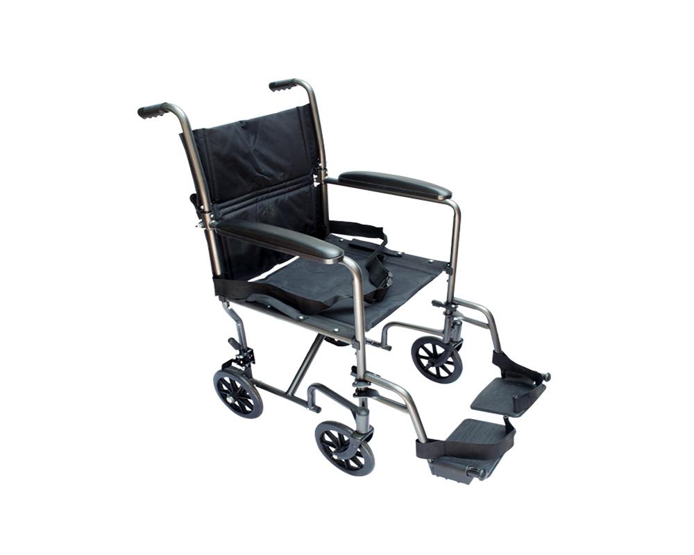 Silla de traslado marmoleada gris con negro de 19 medical store venta de sillas de ruedas - Silla de traslado ...